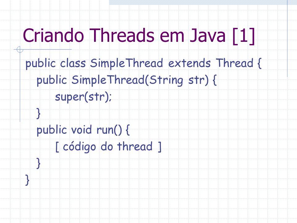 Criando Threads em Java [1]